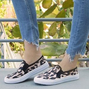 Shoes - 1 LEFT!!! NWT. Leopard print slip on sneakers